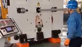 ITER-PF超导导体缩径机压缩导体实验01