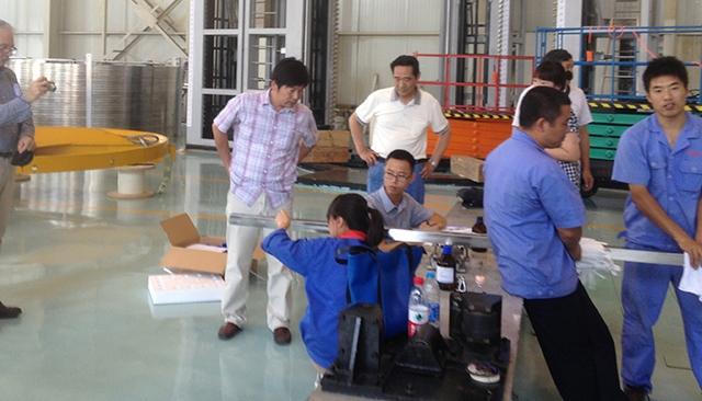 超导导体生产设备验收