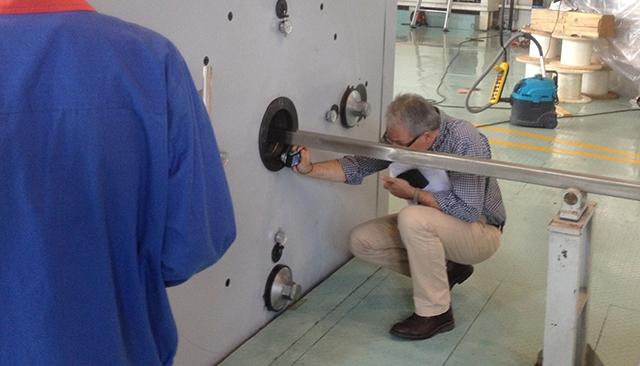 PF超导导体缩径试制现场